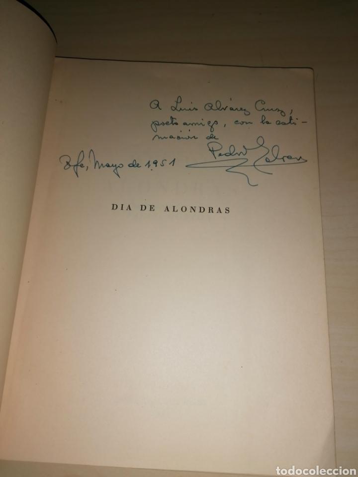 Libros de segunda mano: DÍA DE ALONDRAS - PEDRO GARCÍA CABRERA - 1951- Dedicatoria autógrafa - Foto 2 - 253356525
