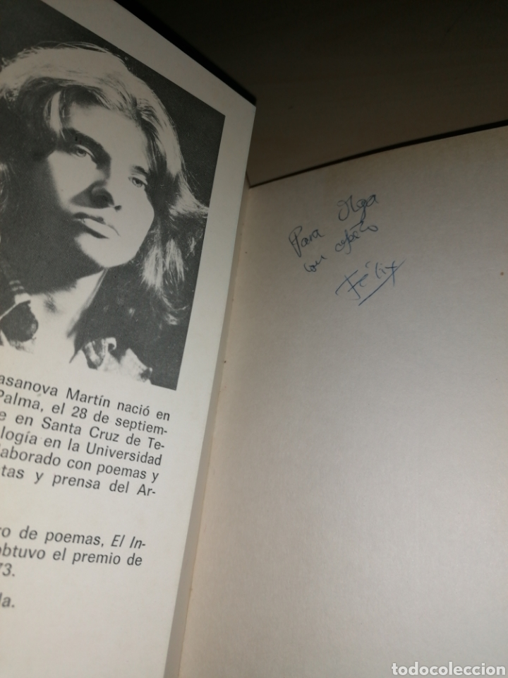 Libros de segunda mano: EL DON DE VORACE - FÉLIX FRANCISCO CASANOVA - Dedicatoria autógrafa - ÚNICO¡ - Foto 2 - 253358320