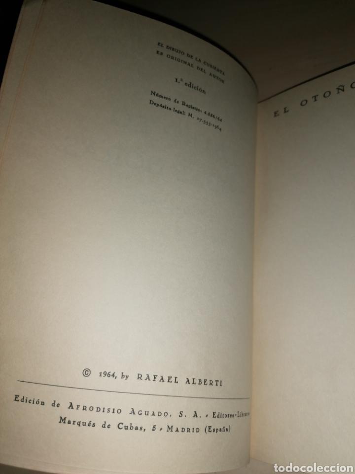 Libros de segunda mano: ABIERTO A TODAS HORAS - RAFAEL ALBERTI - Dibujo con dedicatoria autógrafa - Foto 3 - 253360775
