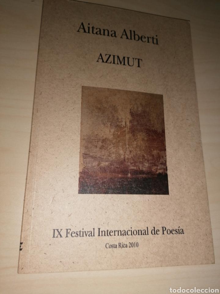 AZIMUT - AITANA ALBERTI - DIBUJO Y DEDICATORIA AUTÓGRAFA (Libros de Segunda Mano (posteriores a 1936) - Literatura - Poesía)