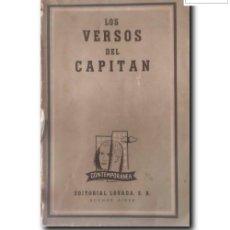 Livres d'occasion: VERSOS DEL CAPITÁN. POEMAS DE AMOR. ANÓNIMO. Lote 253603390