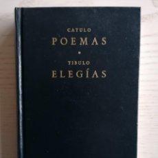 Livres d'occasion: CATULO POEMAS. TIBULO ELEGÍAS - BIBLIOTECA CLÁSICA GREDOS - ED. GREDOS - 1993. Lote 253886370