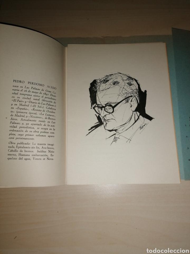 Libros de segunda mano: Oda a Lanzarote. Pedro Perdomo Acedo, Las Palmas 1966. Dedicatoria autógrafa - Foto 4 - 253934865