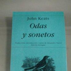 Libros de segunda mano: ODAS Y SONETOS - JOHN KEATS. POESÍA HIPERIÓN. Lote 254118960