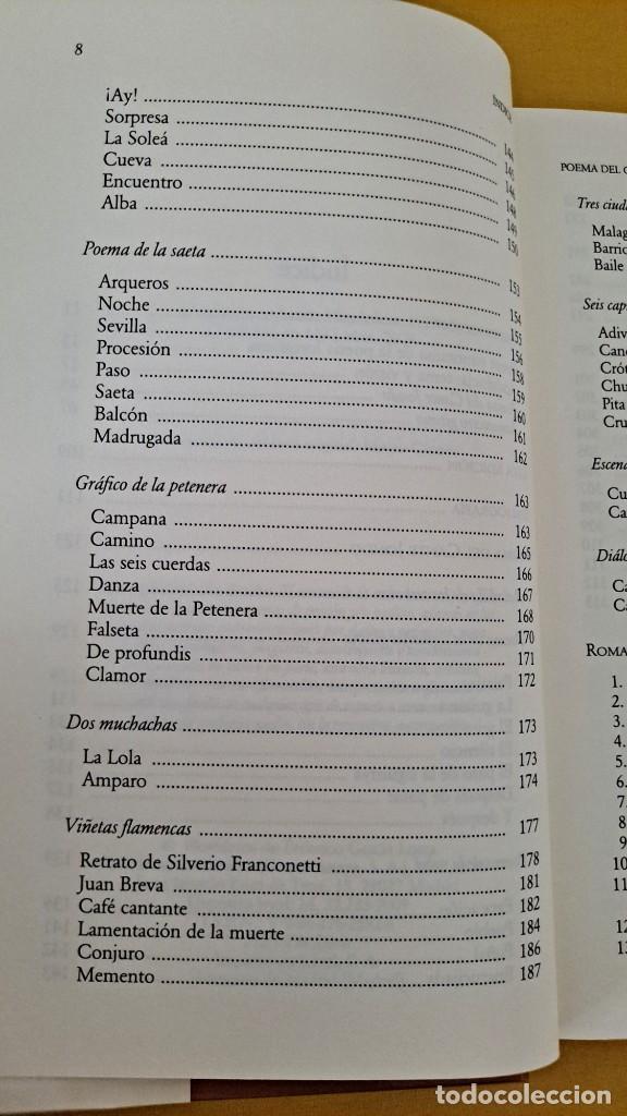 Libros de segunda mano: FEDERICO GARCIA LORCA - POEMA DEL CANTE JONDO Y ROMANCERO GITANO - CATEDRA MIL LETRAS 2009 - Foto 5 - 254409750
