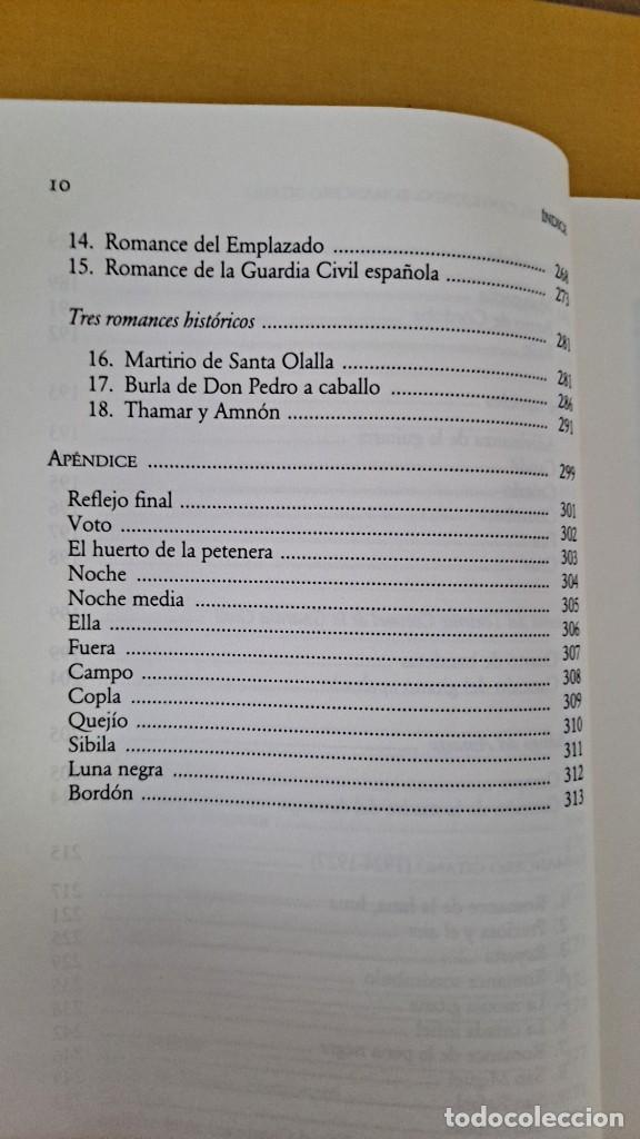 Libros de segunda mano: FEDERICO GARCIA LORCA - POEMA DEL CANTE JONDO Y ROMANCERO GITANO - CATEDRA MIL LETRAS 2009 - Foto 7 - 254409750