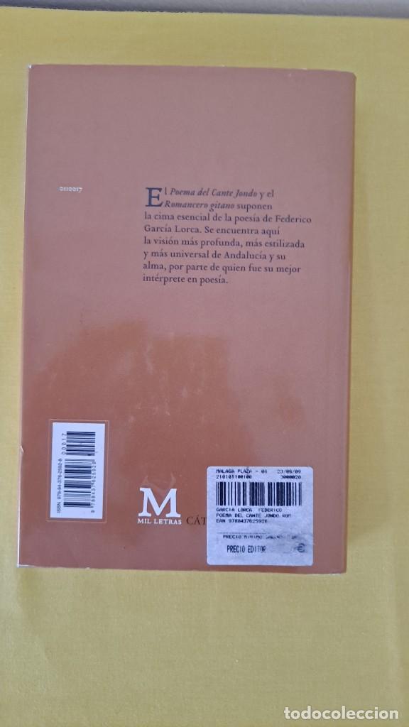 Libros de segunda mano: FEDERICO GARCIA LORCA - POEMA DEL CANTE JONDO Y ROMANCERO GITANO - CATEDRA MIL LETRAS 2009 - Foto 8 - 254409750