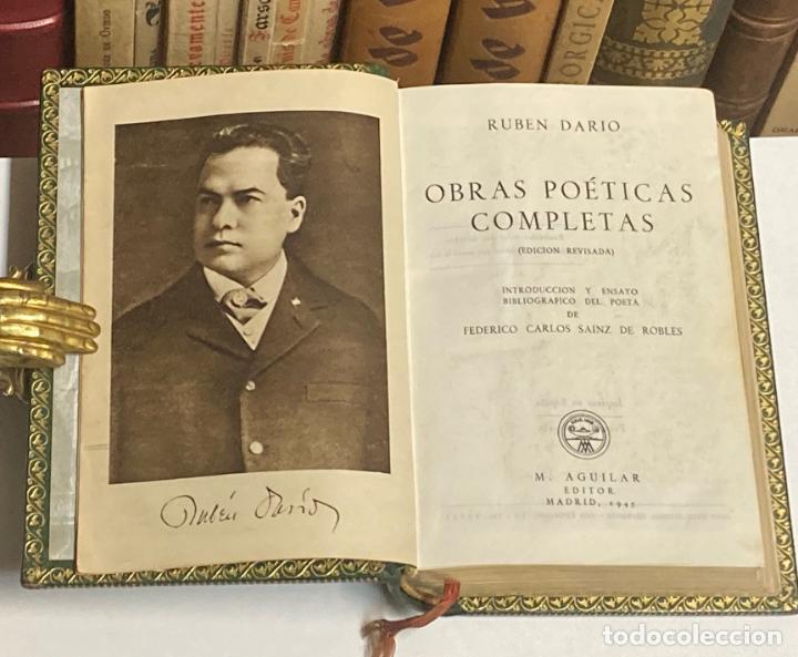 Libros de segunda mano: AÑO 1945 - OBRAS POÉTICAS COMPLETAS DE RUBÉN DARÍO - AGUILAR COLECCIÓN JOYA EDICIÓN DE LUJO - Foto 2 - 254985325