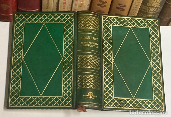 AÑO 1945 - OBRAS POÉTICAS COMPLETAS DE RUBÉN DARÍO - AGUILAR COLECCIÓN JOYA EDICIÓN DE LUJO (Libros de Segunda Mano (posteriores a 1936) - Literatura - Poesía)