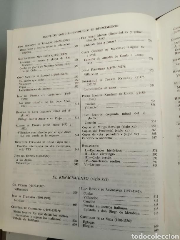 Libros de segunda mano: HISTORIA Y ANTOLOGÍA DE LA POESÍA ESPAÑOLA . En lengua castellana. Tomo I : Siglo X-XIX - Foto 10 - 205648735