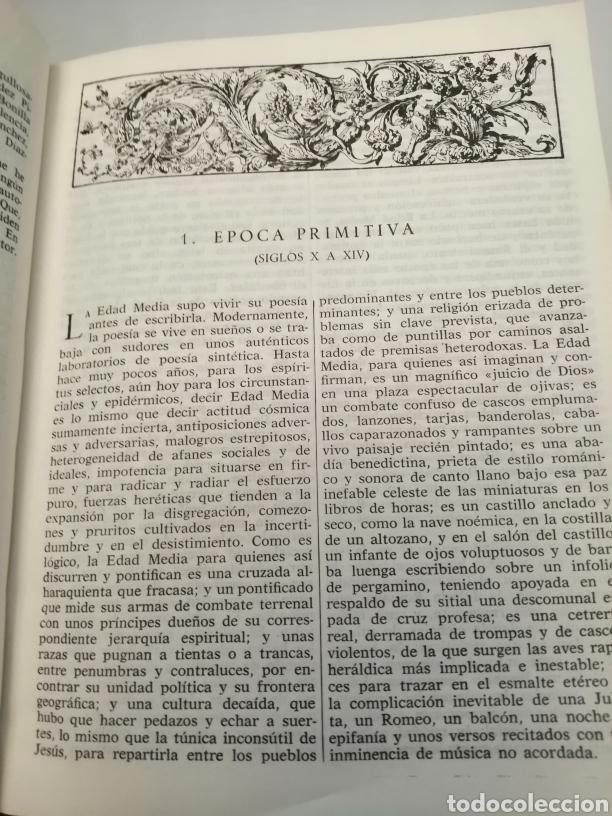 Libros de segunda mano: HISTORIA Y ANTOLOGÍA DE LA POESÍA ESPAÑOLA . En lengua castellana. Tomo I : Siglo X-XIX - Foto 23 - 205648735