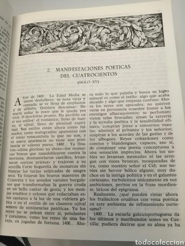 Libros de segunda mano: HISTORIA Y ANTOLOGÍA DE LA POESÍA ESPAÑOLA . En lengua castellana. Tomo I : Siglo X-XIX - Foto 24 - 205648735