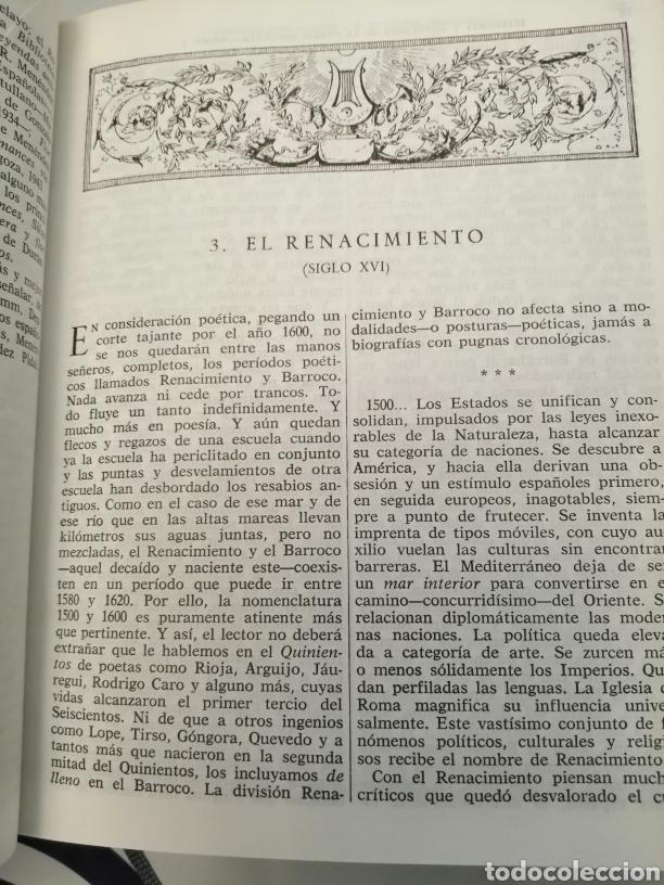 Libros de segunda mano: HISTORIA Y ANTOLOGÍA DE LA POESÍA ESPAÑOLA . En lengua castellana. Tomo I : Siglo X-XIX - Foto 25 - 205648735