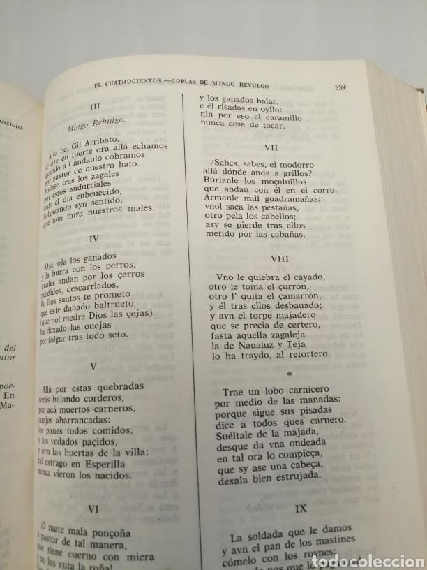 Libros de segunda mano: HISTORIA Y ANTOLOGÍA DE LA POESÍA ESPAÑOLA . En lengua castellana. Tomo I : Siglo X-XIX - Foto 28 - 205648735