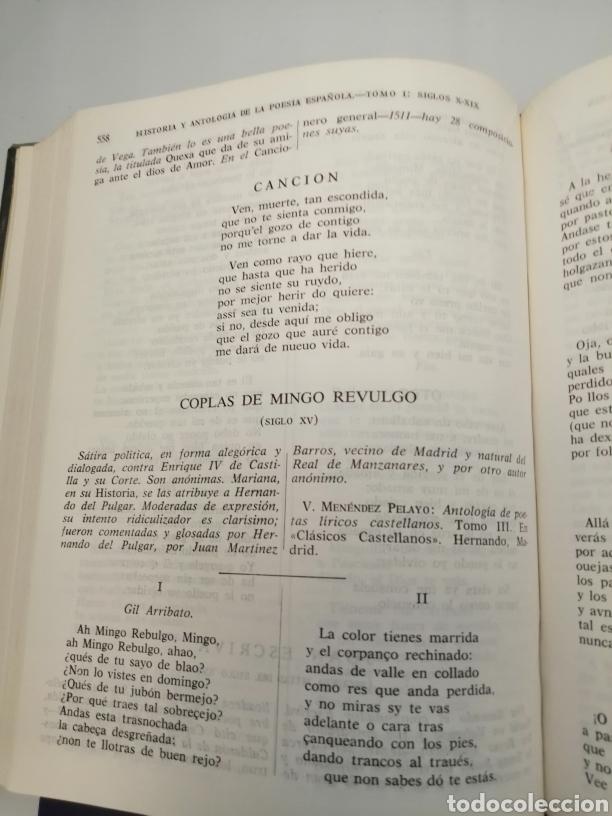 Libros de segunda mano: HISTORIA Y ANTOLOGÍA DE LA POESÍA ESPAÑOLA . En lengua castellana. Tomo I : Siglo X-XIX - Foto 29 - 205648735
