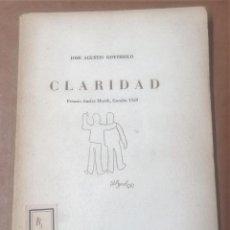Libros de segunda mano: JOSÉ AGUSTÍN GOYTISOLO, CLARIDAD, VALENCIA, 1961. Lote 260561080