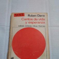 Libri di seconda mano: 30263 - CANTOS DE VIDA Y ESPERANZA - POR RUBEN DARIO - EDITORIAL ANAYA - Nº 37 - AÑO 1968. Lote 260626080