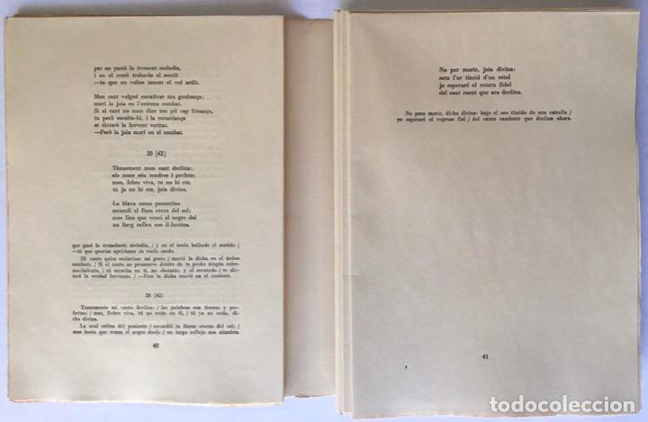 Libros de segunda mano: OBRA POÉTICA. ANTOLOGÍA. Texto original y versiones castellanas. - RIBA, Carles. - Foto 4 - 260808430