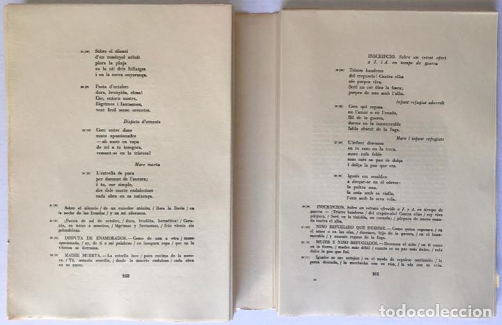 Libros de segunda mano: OBRA POÉTICA. ANTOLOGÍA. Texto original y versiones castellanas. - RIBA, Carles. - Foto 5 - 260808430