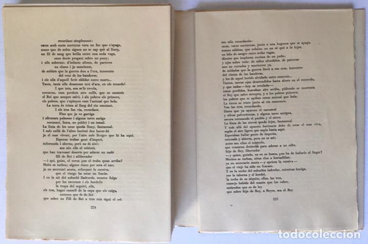 Libros de segunda mano: OBRA POÉTICA. ANTOLOGÍA. Texto original y versiones castellanas. - RIBA, Carles. - Foto 7 - 260808430
