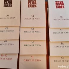 Libros de segunda mano: LOTE DE EJEMPLARES DE LA COLECCION DE POESIA PEÑA LABRA 5 A 66 SANTANDER CANTABRIA. Lote 261106220