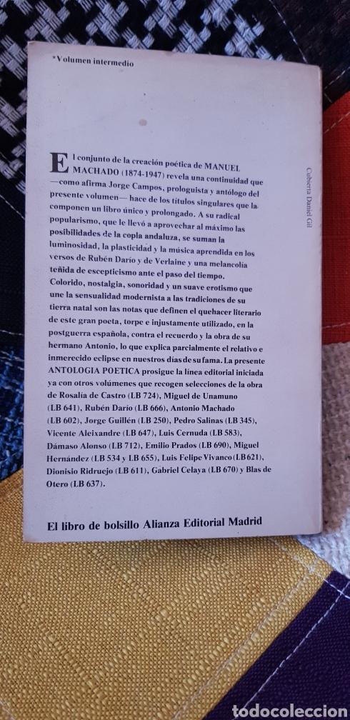 Libros de segunda mano: Libro MANUEL MACHADO POESÍAS. Alianza Editorial,1979 - Foto 2 - 261587435