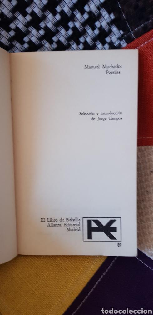 Libros de segunda mano: Libro MANUEL MACHADO POESÍAS. Alianza Editorial,1979 - Foto 4 - 261587435