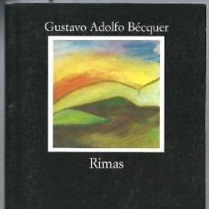 Libros de segunda mano: RIMAS DE GUSTAVO ADOLFO BÉCQUER. EDIT. CATEDRA. LETRAS HISPÁNICAS. Lote 262028535