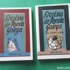Livros em segunda mão: ESCOLMA DE POESÍA GALEGA. 2 TOMOS. GALAXIA 2008. 223 Y 332 PÁGINAS.. Lote 262174100