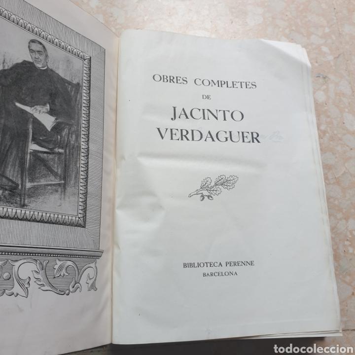 Libros de segunda mano: Obres Completes Jacinto Verdaguer Biblioteca Perenne 1946 en Catalán - Foto 2 - 262343940