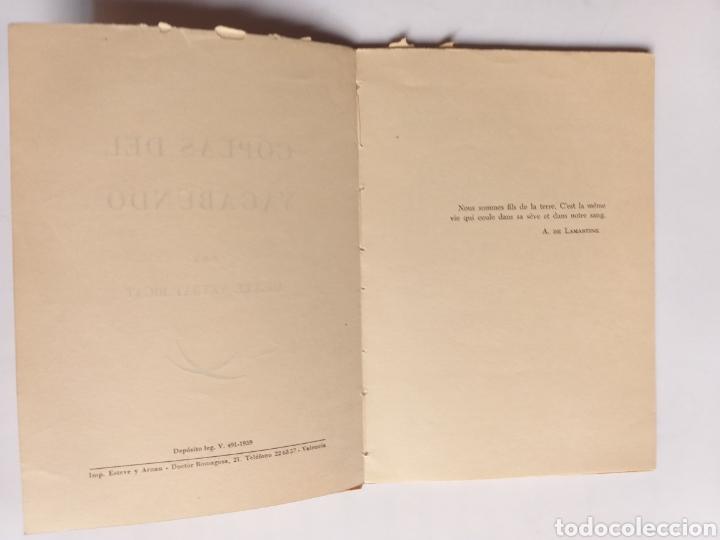 Libros de segunda mano: Coplas del vagabundo por Miguel Veyrat Rigat 1959 - Foto 5 - 262361725