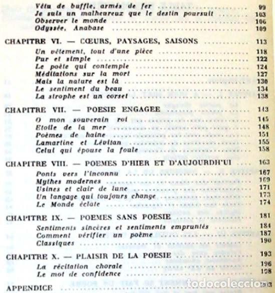 Libros de segunda mano: CLEFS POUR LA POESIE - YVES PERES / DAY LEWIS - EDITION SEGHERS 1973 - VER DESCRIPCIÓN E INDICE - Foto 3 - 263006985