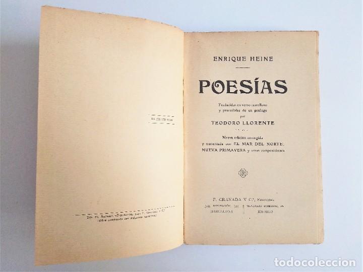 Libros de segunda mano: POESÍAS de ENRIQUE HEINE, F. GRANADA y C.ª, EDITORES - Foto 6 - 263010795
