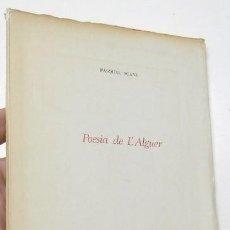 Libros de segunda mano: POESIA DE L'ALGUER - PASQUAL SCANU. Lote 263531300
