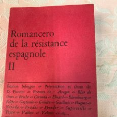 Libros de segunda mano: ROMANCERO DE LA RESISTENCIA ESPAÑOLA, SEGUNDA PARTE. Lote 263531340