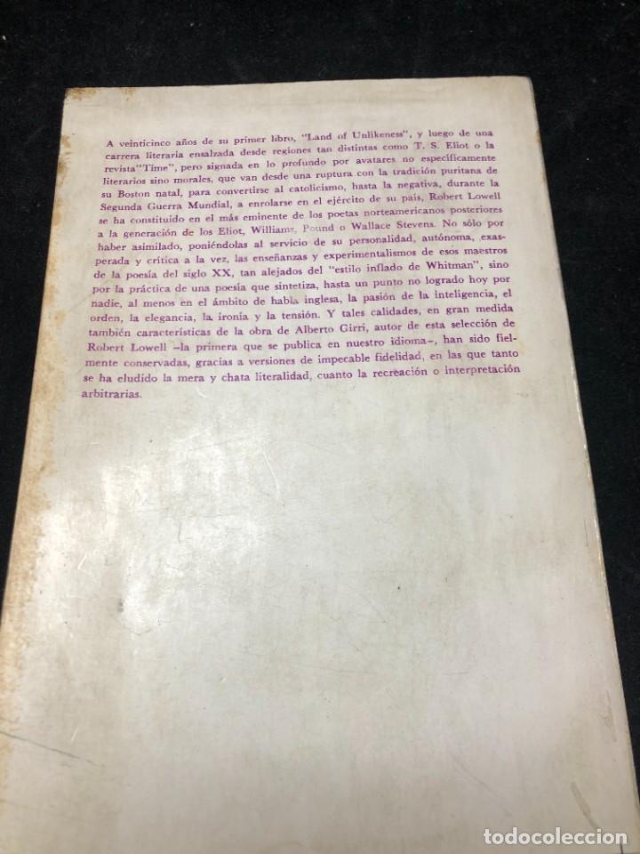Libros de segunda mano: POEMAS de ROBERT LOWELL. VERSIÓN DE ALBERTO GIRRI. Editorial sudamericana 1969 - Foto 11 - 264312884
