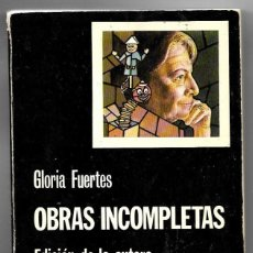 Libros de segunda mano: GLORIA FUERTES . OBRAS INCOMPLETAS . CÁTEDRA. Lote 267704879