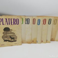 Libros de segunda mano: REVISTA PLATERO. VERSO Y PROSA. 9 TOMOS. Nº 1 HASTA EL Nº 9. DESDE ENERO A SEPTIEMPRE. CADIZ. 1951.. Lote 268265589