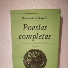 Libros de segunda mano: LIBRO - POESÍAS COMPLETAS - POESIA - KONSTANTINO KAVAFIS - HIPERIÓN. Lote 269015519