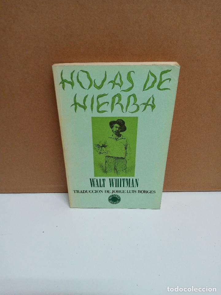 WALT WHITMAN - HOJAS DE HIERBA - EDITORIAL LUMEN (Libros de Segunda Mano (posteriores a 1936) - Literatura - Poesía)