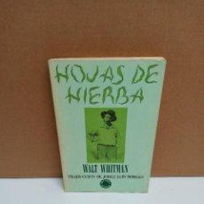 Libros de segunda mano: WALT WHITMAN - HOJAS DE HIERBA - EDITORIAL LUMEN. Lote 269037144
