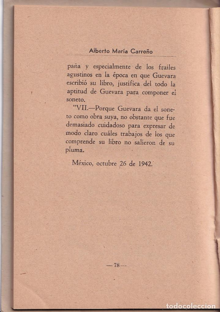 Libros de segunda mano: NO ME MUEVE MI DIOS PARA QUERERTE - ALBERTO MARIA CARREÑO - MEXICO 1942 - Foto 3 - 269040738