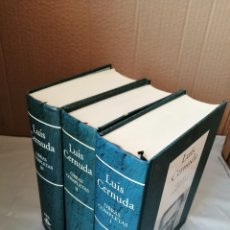 Libros de segunda mano: LUIS CERNUDA. OBRAS COMPLETAS, VOLS. I, II Y III (OBRA COMPLETA EN 3 TOMOS). Lote 269197373