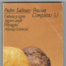 Libros de segunda mano: POESÍAS COMPLETAS (1) - PEDRO SALINAS - BUEN ESTADO. Lote 269294273