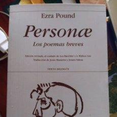 Libros de segunda mano: PERSONAE EZRA POUND LIBRO POESÍA OFERTA. Lote 269704118