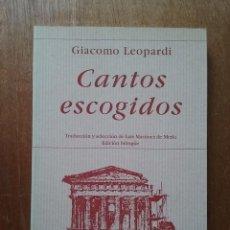 Libros de segunda mano: CANTOS ESCOGIDOS, GIACOMO LEOPARDI, POESIA HIPERION, 1998. Lote 270407603