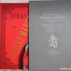 Libros de segunda mano: OBRAS DE AUSIAS MARCH. 2012 FRANCESCH FAYOS Y ANTONY. Lote 270999153