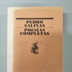 Libros de segunda mano: POESÍAS COMPLETAS. PEDRO SALINAS.. Lote 271119733