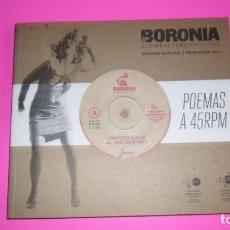 Libros de segunda mano: BORONÍA, POEMAS A 45 RPM, CÓRDOBA, PRIMAVERA 2011, EDICIÓN ESPECIAL. Lote 273976023