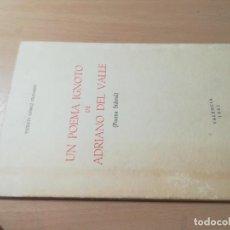 Libros de segunda mano: UN POEMA IGNOTO DE ADRIANO DEL VALLE, POEMA SIDERAL / VICENTE GOMEZ VICHARES / VALENCIA 1982 / AJ69. Lote 274818223